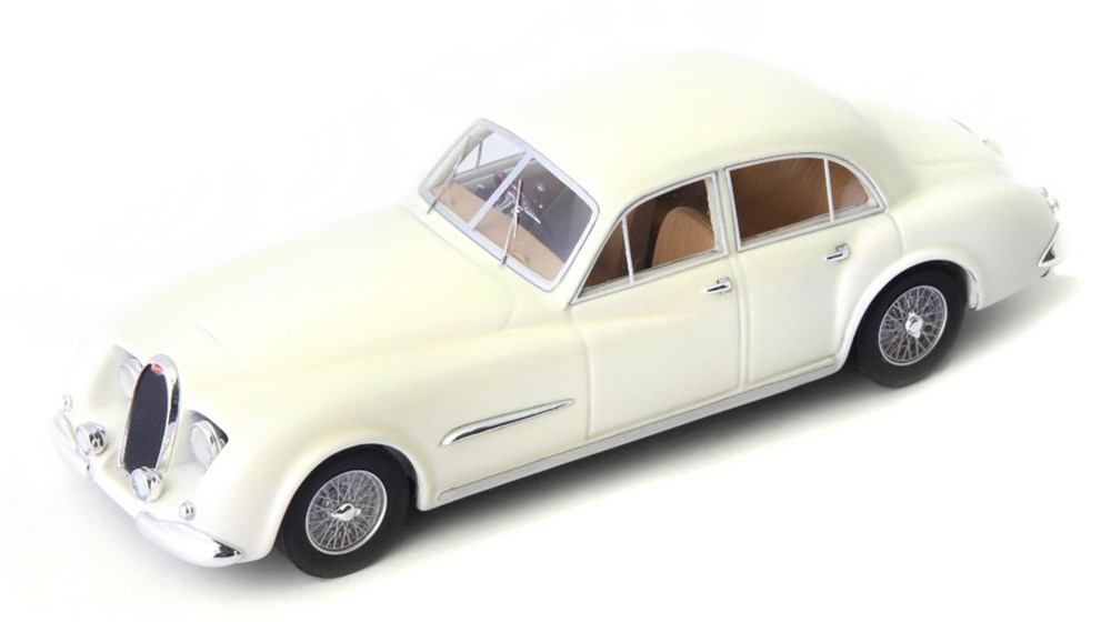【予約】 アべニュー43 1/43 ブガッティ タイプ 101 Lepoix 1952 ホワイト 完成品ミニカー 60041
