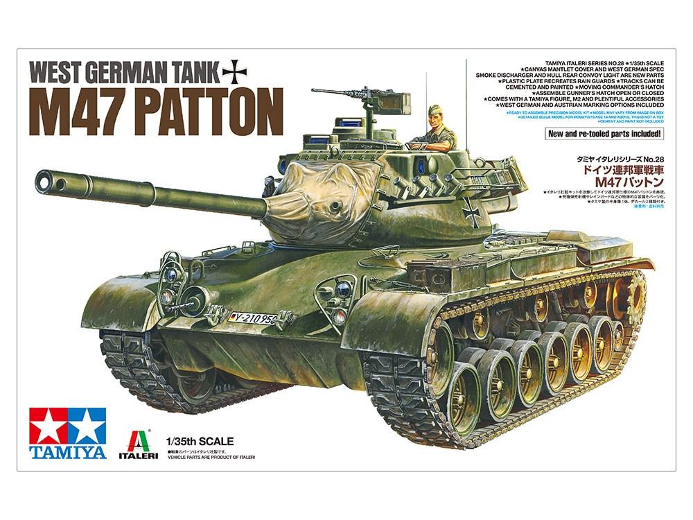 土日出荷可能 スケールモデル タミヤ 1 35 半額 M47 37028 パットン 定番 ドイツ連邦軍戦車 イタレリ