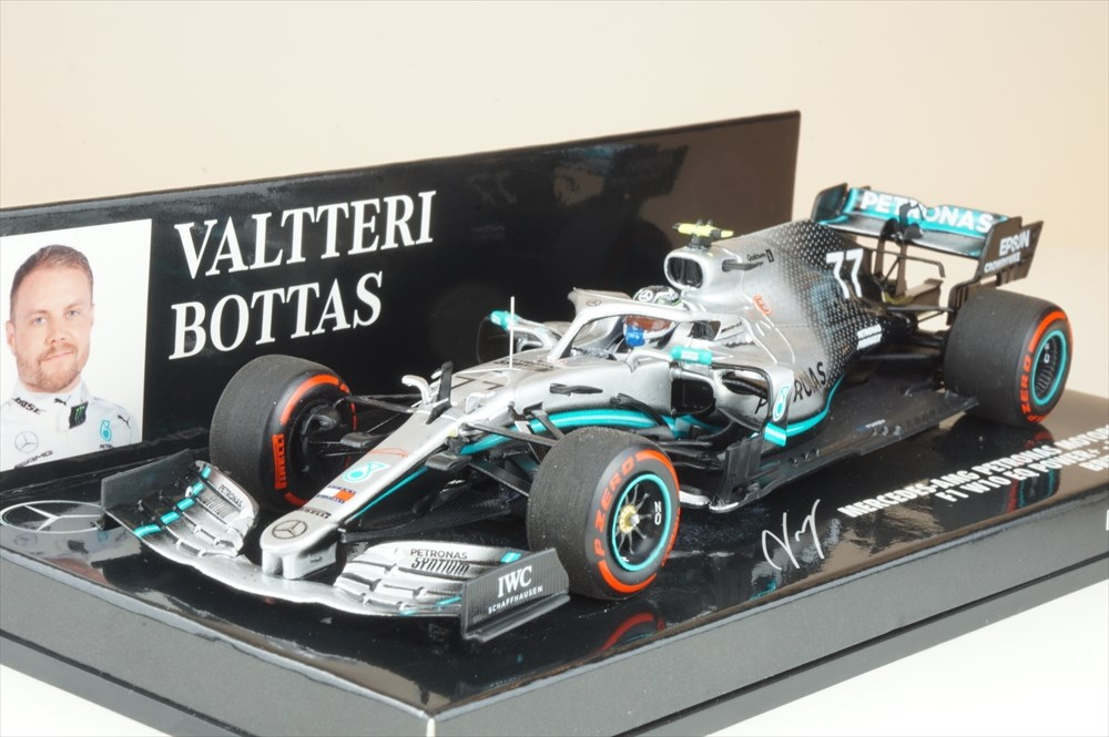 ミニチャンプス 1/43 メルセデス AMG F1 W10 EQ パワー+ No.77 ペトロナス 2019 F1 イギリスGP 2位 V.ボッタス 完成品ミニカー 417191077