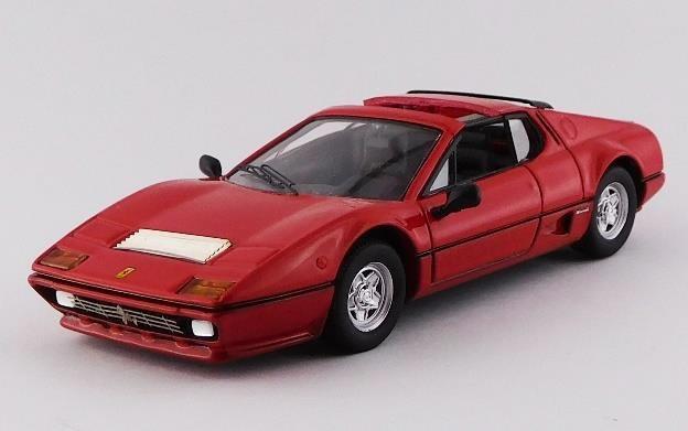 ベストモデル 1/43 フェラーリ 512 BB 1981 タルガ Autokraftバージョン レッド 完成品ミニカー BEST9782