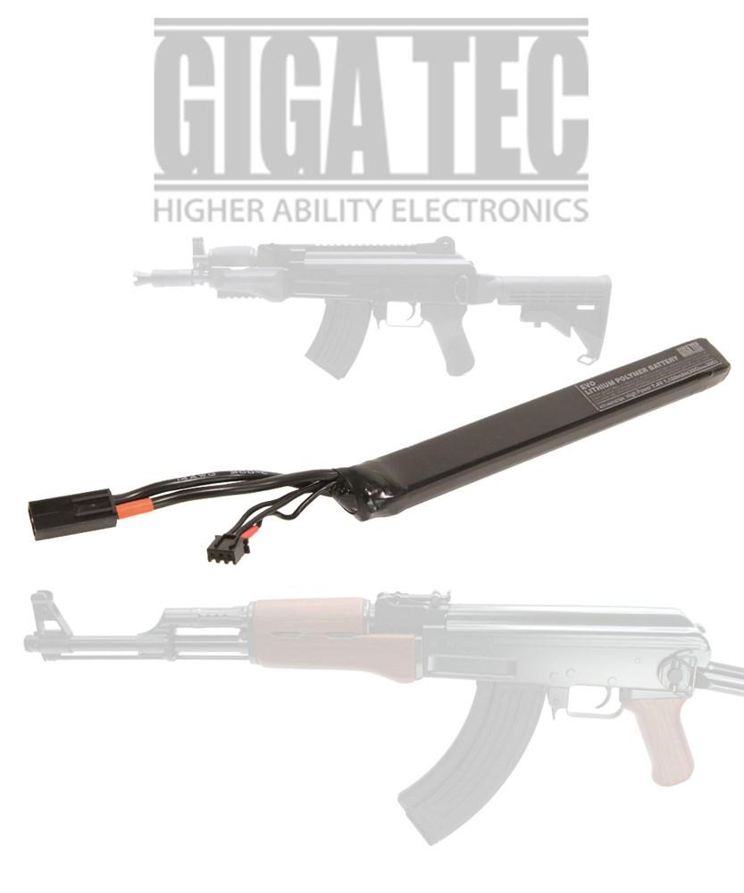 期間限定 土日出荷可能 トイガンパーツ ギガテック GIGA 4571443147509 電動ガン EVOリポバッテリー7.4VスティックAKタイプ 新品未使用正規品 TEC
