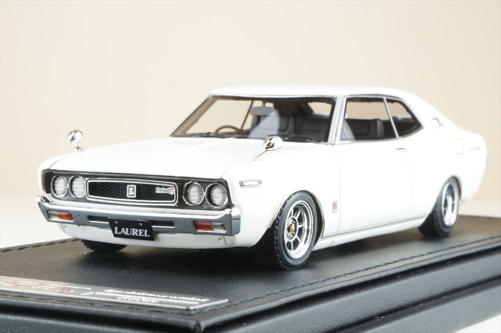 イグニッションモデル 1/43 ニッサン ローレル 2000SGX C130 ホワイト Hayashi-Wheel 完成品ミニカー IG1906