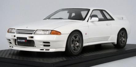 【予約】 イグニッションモデル 1/18 ニッサン スカイライン GT-R NISMO BNR32 ホワイト ノーマルホイール 完成品ミニカー IG2168