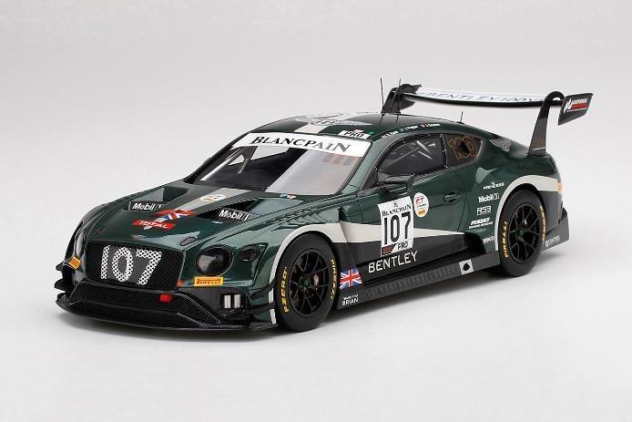 【予約】 TopSpeed 1/18 ベントレー コンチネンタル GT3 トータル No.107 ベントレーチーム Mスポーツ 2019 スパ24時間 完成品ミニカー TS0259