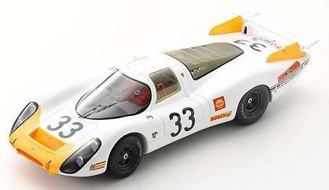 【予約】 スパーク 1/18 ポルシェ 908/8 No.33 1968 ル・マン24時間 3位 R.シュトメレン/J.Neerpasch 完成品ミニカー 18S518