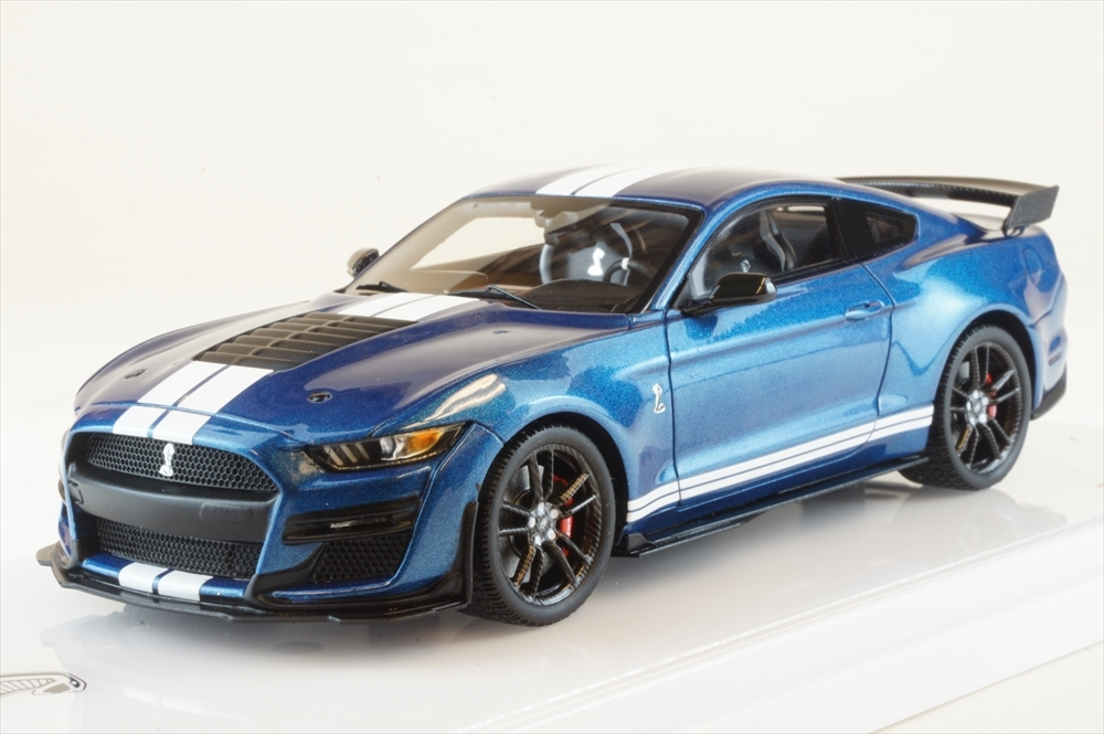 土日出荷可能 完成品ミニカー トゥルースケール 大幅にプライスダウン 1 43 フォード パフォーマンス 販売期間 限定のお得なタイムセール マスタング TSM430477 ブルー GT500 シェルビー