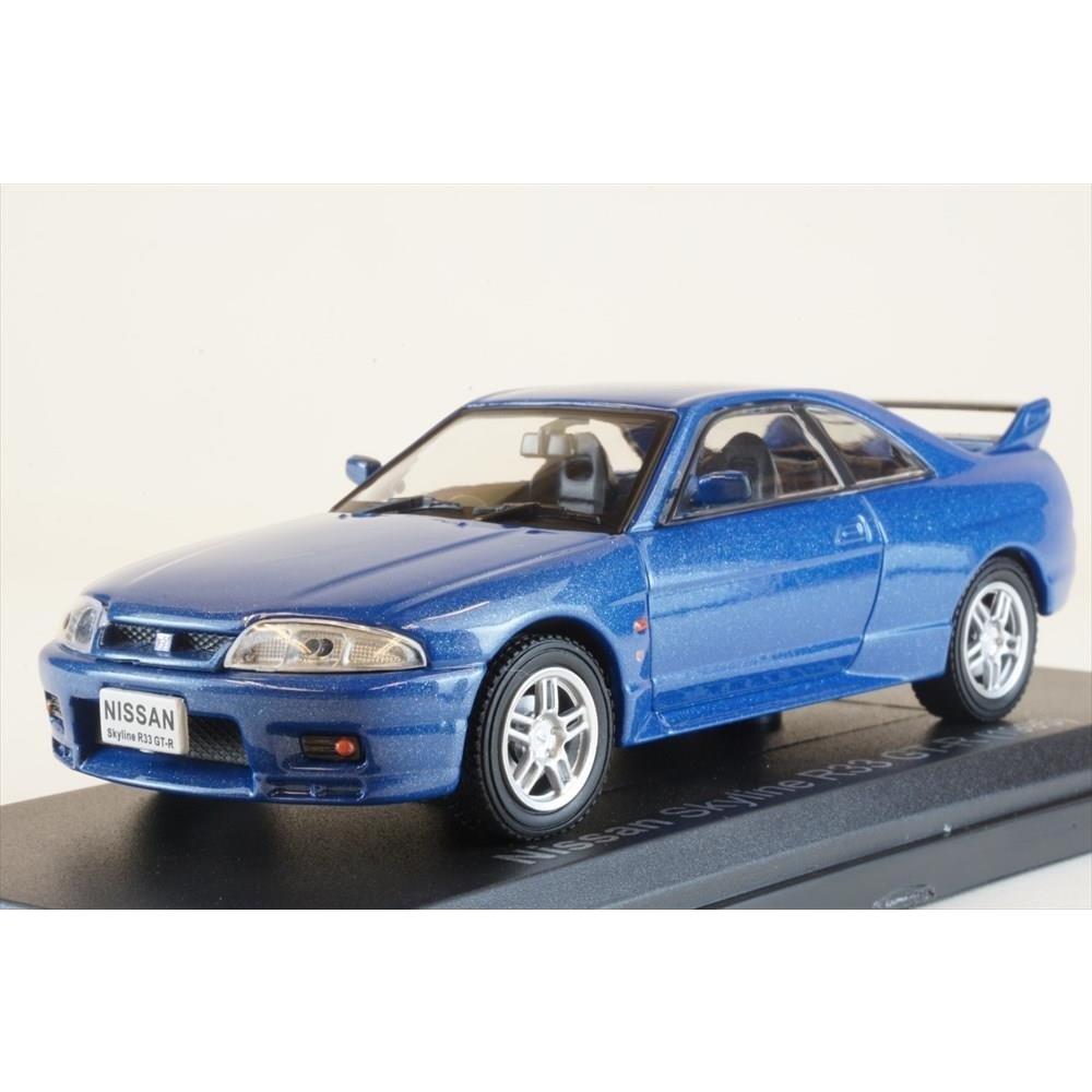 誕生日 セール商品 お祝い 土日出荷可能 完成品ミニカー ノレブ J 1 43 ニッサン スカイライン R33 GT-R ブルー 420184 1995