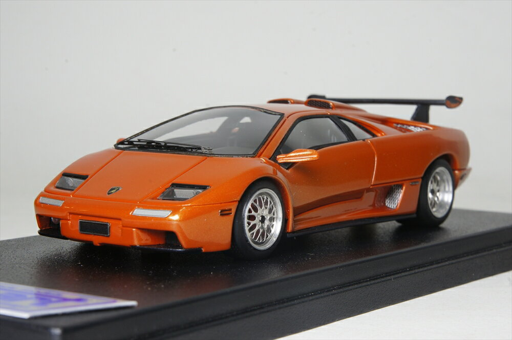 ルックスマート 1/43 ランボルギーニ ディアブロ イオタ 2000 オレンジ完成品ミニカー LS339A