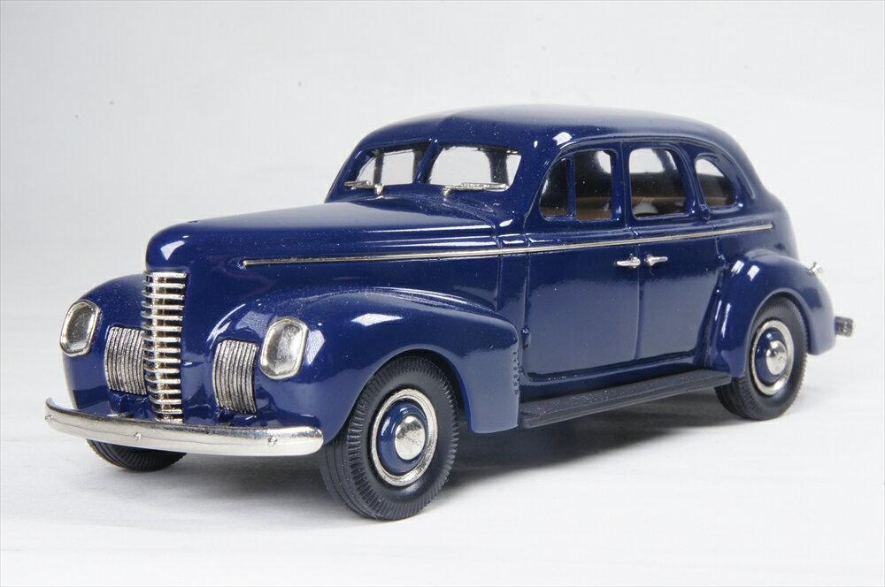 ブルックリン 1/43 ナッシュ アンバサダーエイト 4ドア ツーリングセダン 1939 ブランズウィックブルー 完成品ミニカー BRK187