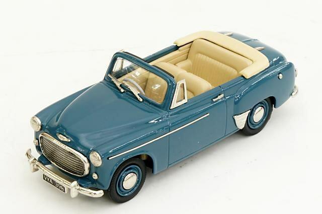 ブルックリン 1/43 ヒルマン ミンクス コンバーチブル 1955 ブルー 完成品ミニカー LDM111