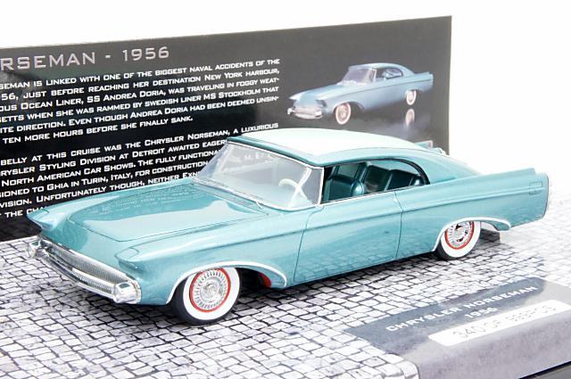 ミニチャンプス 1/43 クライスラー ノーズマン 1956 ブルー 完成品ミニカー 437143320