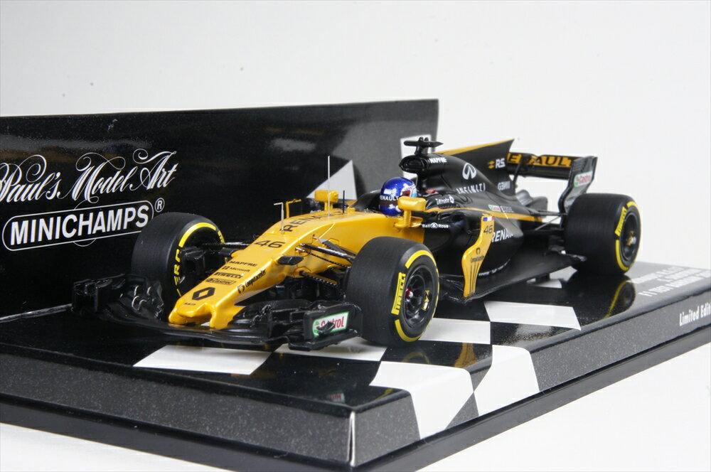 ミニチャンプス 1/43 ルノー S F1 RS17 No.46 2017 バーレーンテスト S.Syltokin 完成品ミニカー 417170046