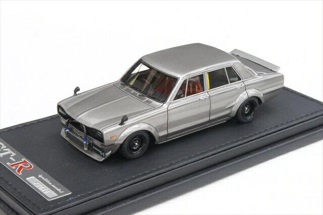 イグニッションモデル 1/43 ニッサン スカイライン 2000 GT-R PGC10 セミワークス仕様 ガンメタリック 完成品ミニカー IG0648