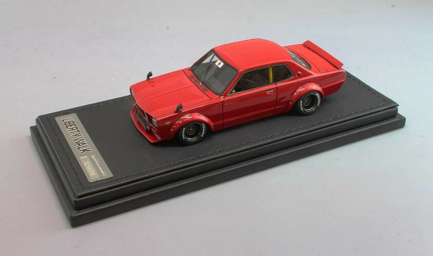 イグニッションモデル 1/43 LB-WORKS Hakosuka 2Dr レッド 完成品ミニカー IG0715