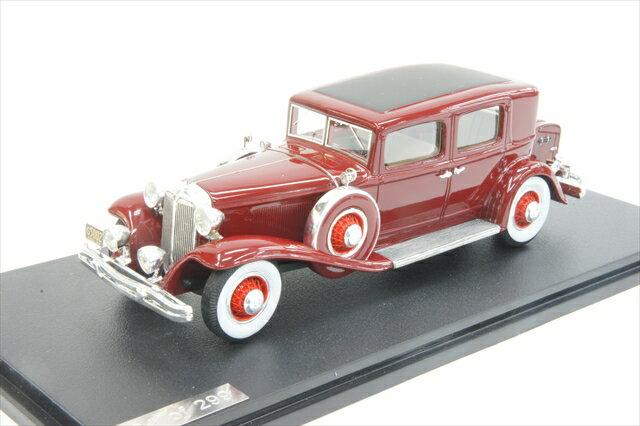 グレートライトニングモデル 1/43 クライスラー インペリアル CGクラブ セダン 1931年 マルーン 完成品ミニカー GLM43105002
