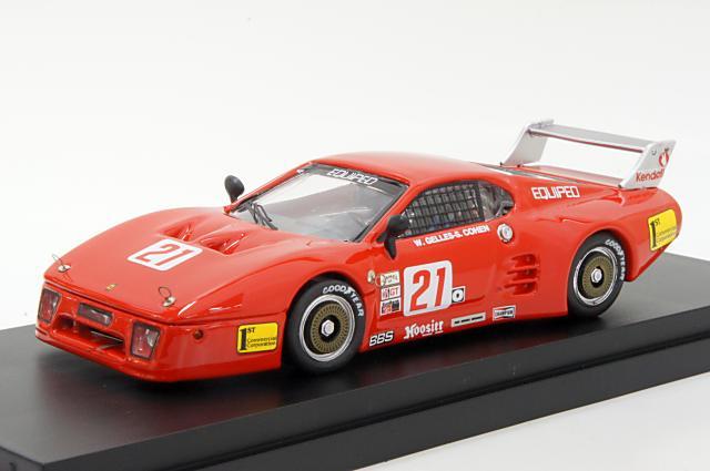 ベストモデル 1/43 フェラーリ 512BB LM 1984 ライムロック No.21Cohen/Gelles 完成品ミニカー BEST9576