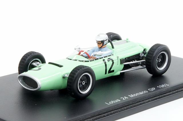 スパーク 1/43 ロータス 24 1963 モナコGP No.12 J.Hall 完成品ミニカー S2141
