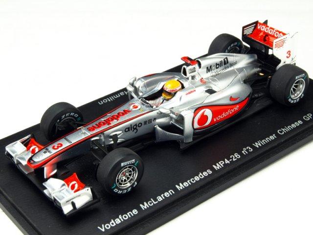 スパーク 1/43 マクラーレン MP4-26 2011 中国GP No.3 L.Hamilton 完成品ミニカー S3022