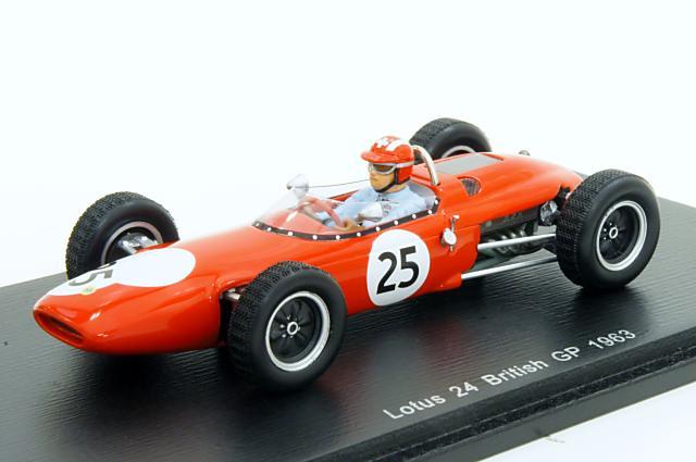 スパーク 1/43 ロータス 24 1963 イギリスGP No.25 J.シフェール 完成品ミニカー S4271