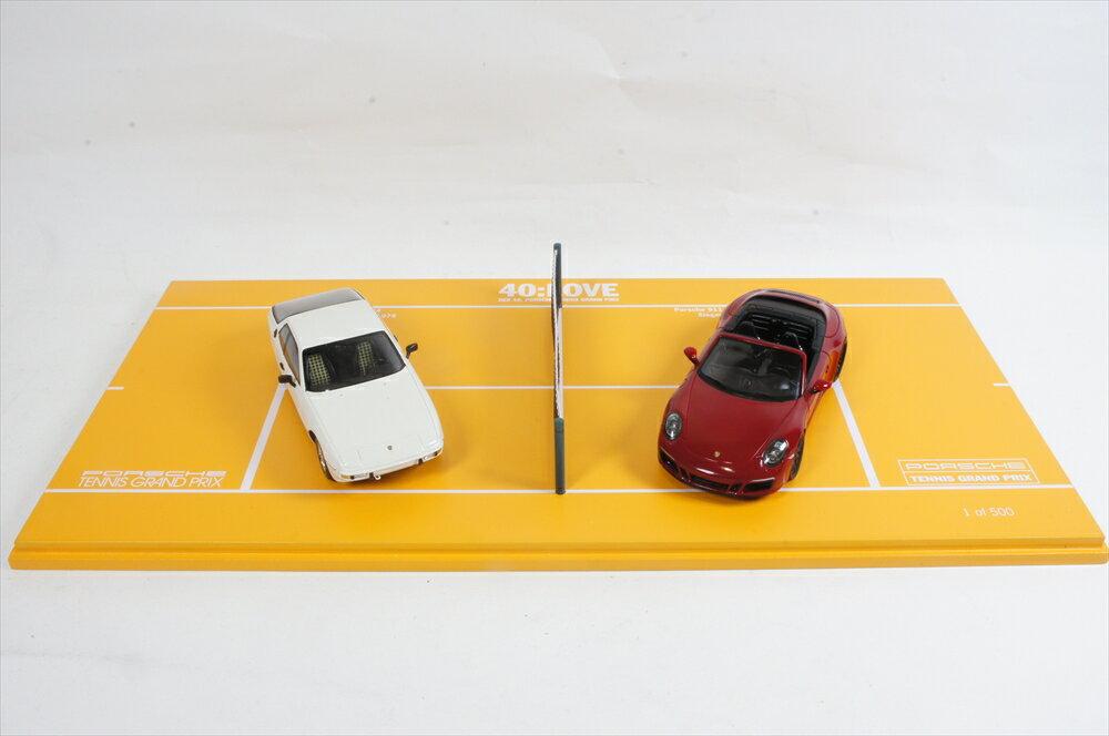 ディーラー別注 1/43 ポルシェ 924 /ポルシェ 911 カレラ GTS カブリオ/40ポルシェ Tennis Grand Prix 2017 Set 完成品ミニカー WAX02400001