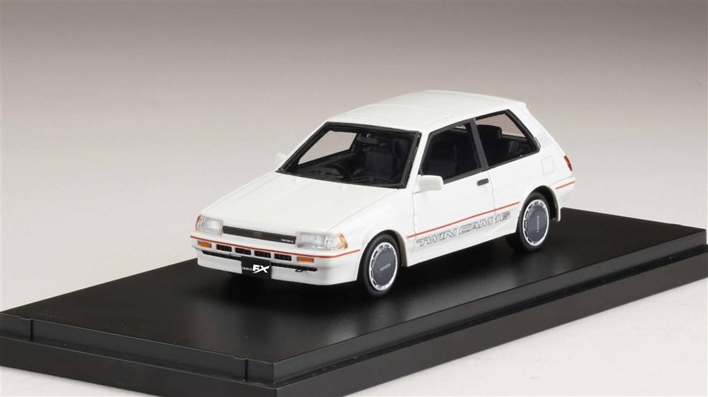 MARK43 1/43 トヨタ カローラ FX-GT AE82 ホワイト 完成品ミニカー PM43108NW