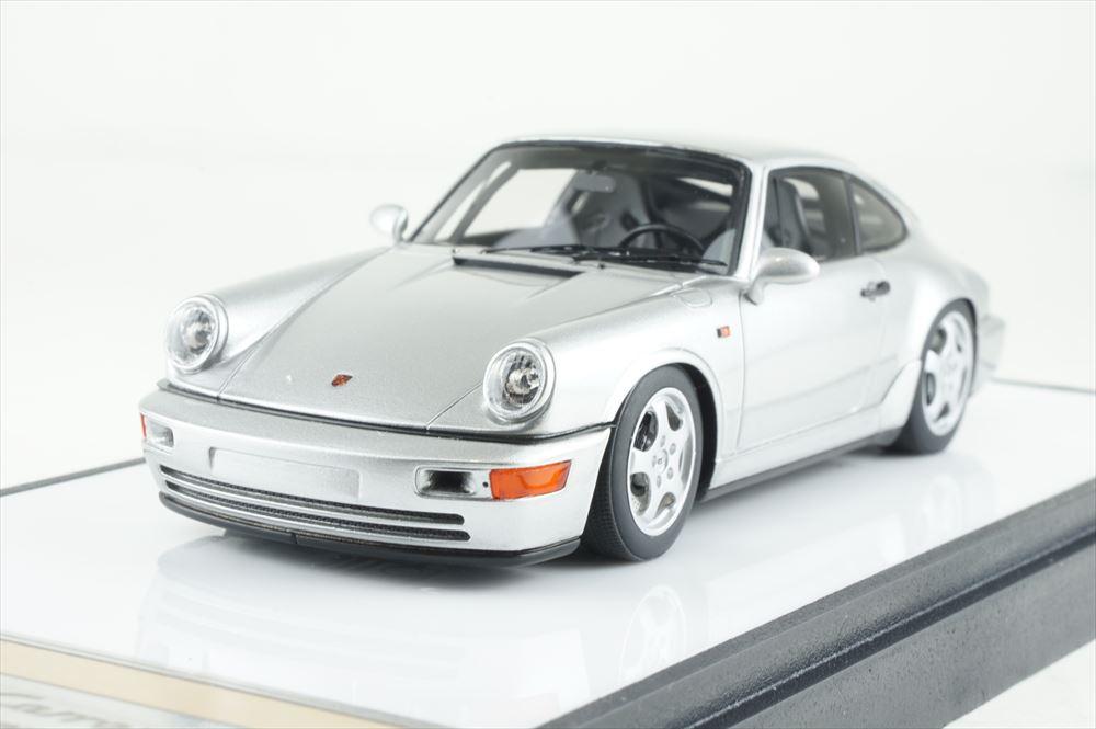 ヴィジョン 1/43 ポルシェ 911 964 カレラ RS クラブスポーツ 1992 シルバー 完成品ミニカー VM139D