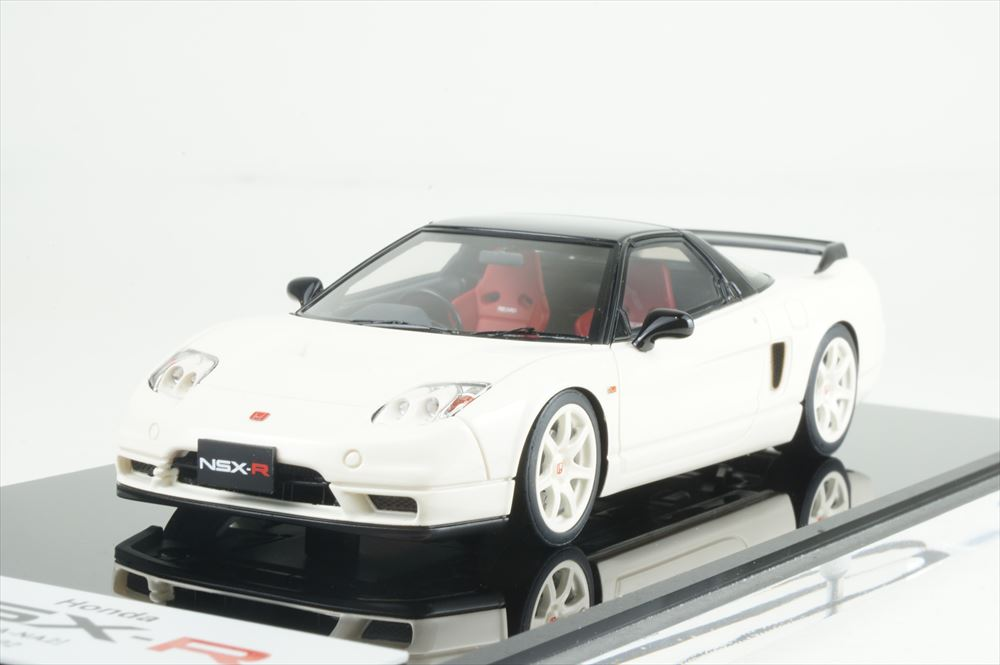 アイドロン 1/43 ホンダ NSX-R NA2 2002 チャンピオンシップホワイト 完成品ミニカー EM389A