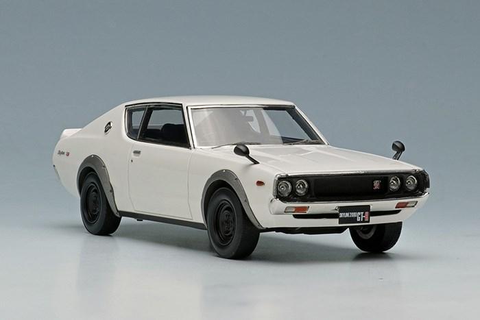 【予約】 アイドロン 1/43 ニッサン スカイライン 2000 GT-R KPGC110 1973 ホワイト 完成品ミニカー EM394A
