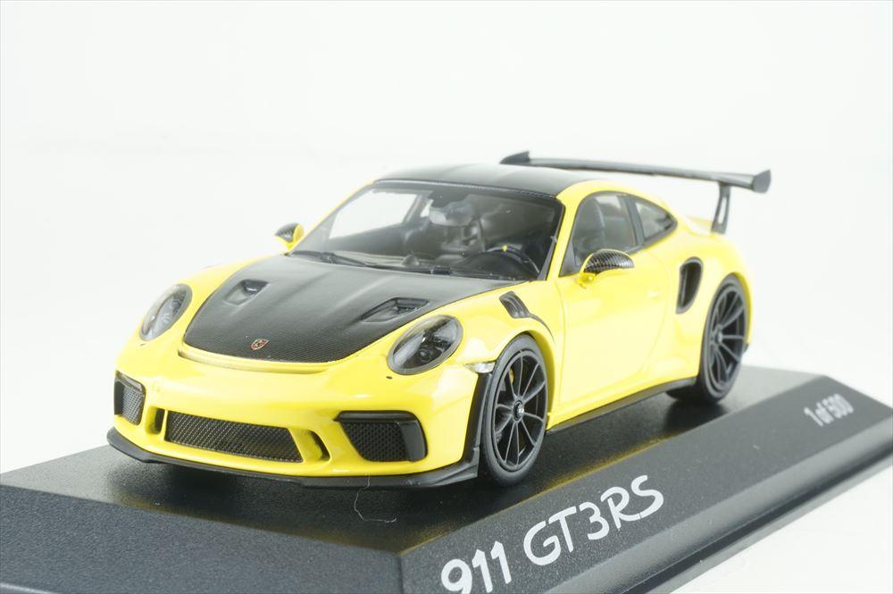 ディーラー別注 1/43 ポルシェ 911 GT3 RS ヴァイザッハパッケージ イエロー/ブラック 完成品ミニカー WAX02020085