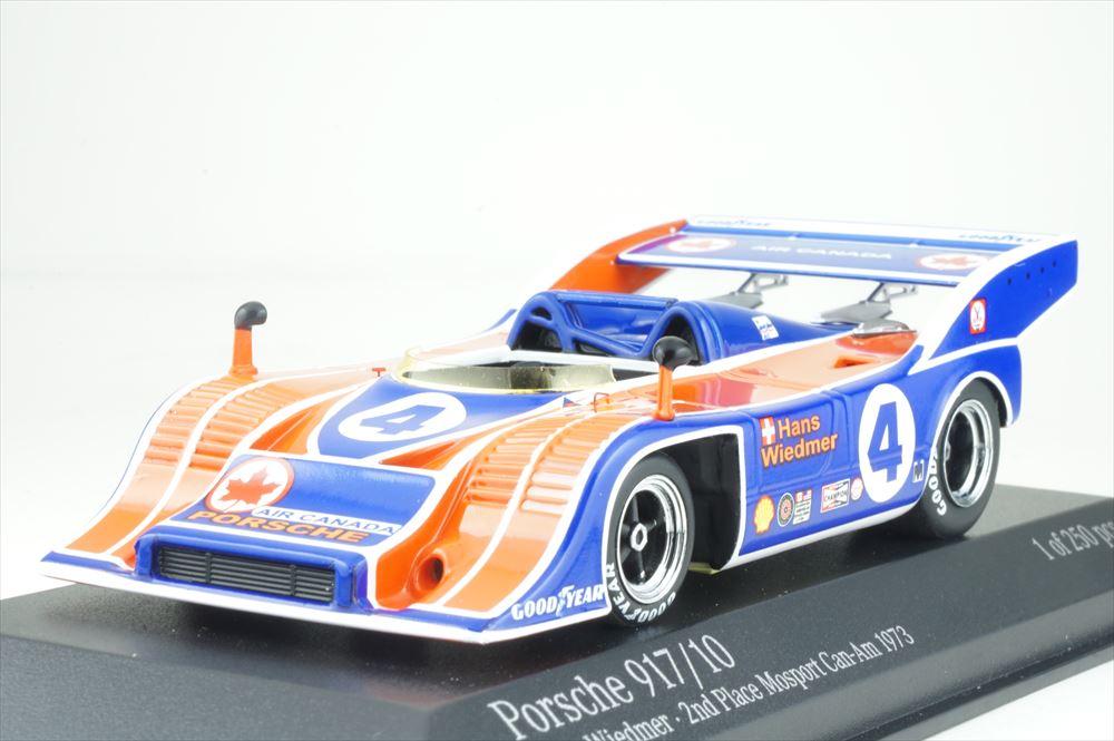 ミニチャンプス 1/43 ポルシェ 917/10 1973 カナディアン-アメリカン モスポート 2位 H.Wiedmer 完成品ミニカー 437736504