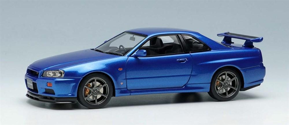 【予約】 アイドロン 1/43 ニッサン スカイライン GT-R BNR34 V-スペック 1999 ベイサイドブルー 完成品ミニカー EM462A