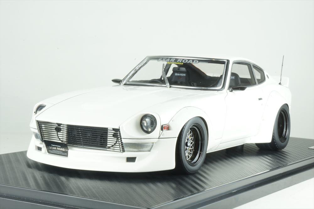 イグニッションモデル 1/18 ニッサン フェアレディ Z S30 スターロード ホワイト 完成品ミニカー IG1361