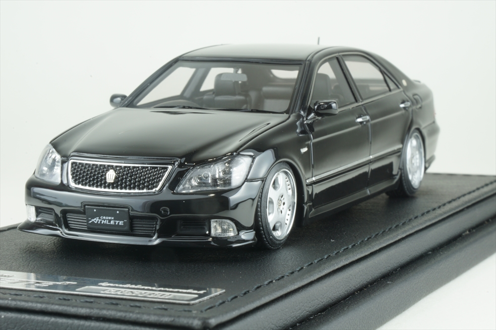 イグニッションモデル 1/43 トヨタ クラウン GRS180 3.5 アスリート ブラック 完成品ミニカー IG1503