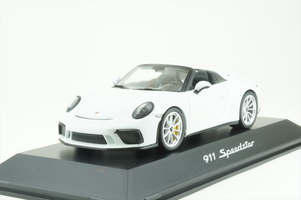 ディーラー別注 1/43 ポルシェ 911 スピードスター 991 II ホワイト 完成品ミニカー WAP0201930K