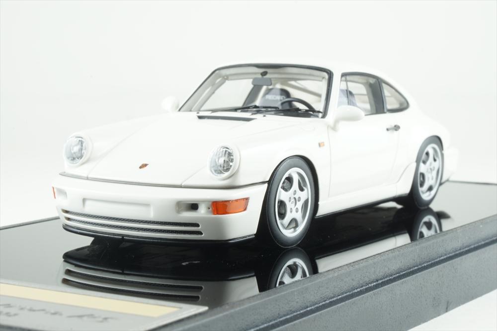 ヴィジョン 1/43 ポルシェ 911 964 カレラ RS NGT 1992 ホワイト 完成品ミニカー VM142C