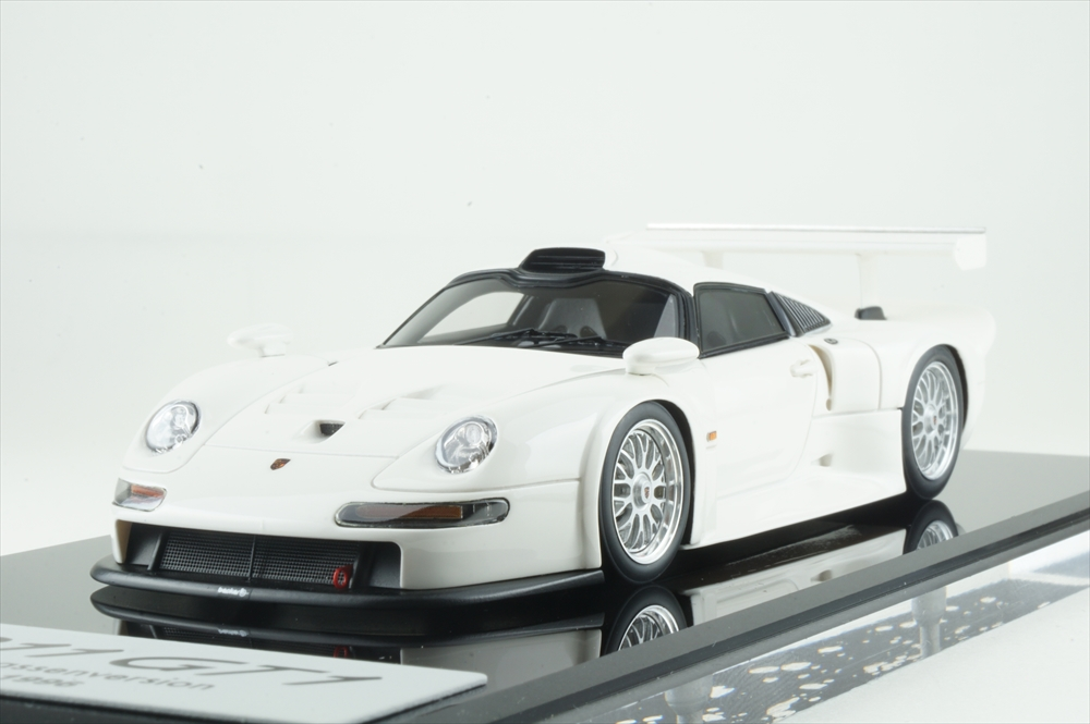 アイドロン 1/43 ポルシェ 911 GT1 ストリートバージョン 1996 完成品ミニカー EM472A