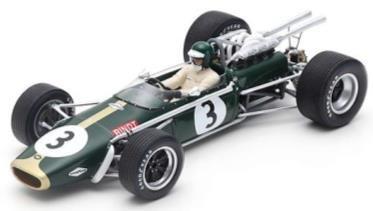 【予約】 スパーク 1/18 ブラバム BT24 No.3 1968 F1 南アフリカGP 3位 J.リント 完成品ミニカー 18S504