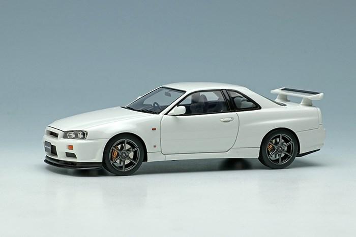 アイドロン 1/43 ニッサン スカイラインGT-R BNR34 V-spec 1999 ホワイト【取寄対応】 完成品ミニカー EM462F