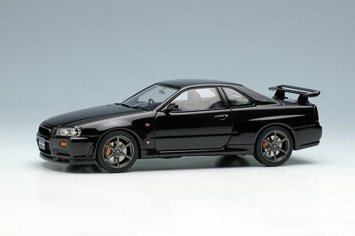 アイドロン 1/43 ニッサン スカイライン GT-R BNR34 1999 ブラックパール【取寄対応】 完成品ミニカー EM461E