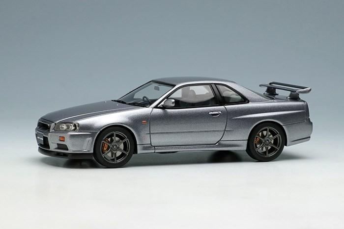 アイドロン 1/43 ニッサン スカイライン GT-R BNR34 1999 アスリートシルバー【取寄対応】 完成品ミニカー EM461G