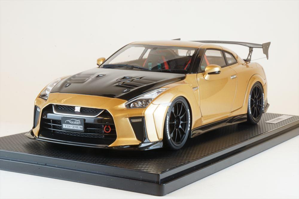 イグニッションモデル 1/18 トップシークレット GT-R R35 ゴールド 完成品ミニカー IG1534