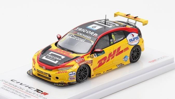 土日出荷可能 トゥルースケール 1 43 オンラインショップ ホンダ シビック Type-R TCR No.9 TSM430443 新作 Ginion WTCR 完成品ミニカー レースオブジャパン Boutsen レーシング 第9戦
