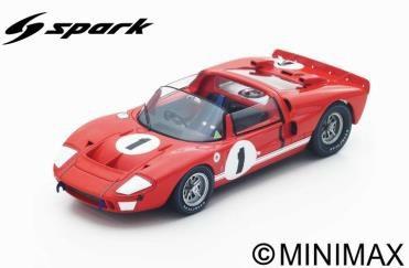 【予約】 スパーク 1/18 フォードX1 No.1 1966 セブリング12時間 ウイナー K.マイルズ/L.ルビー 完成品ミニカー 18SE66