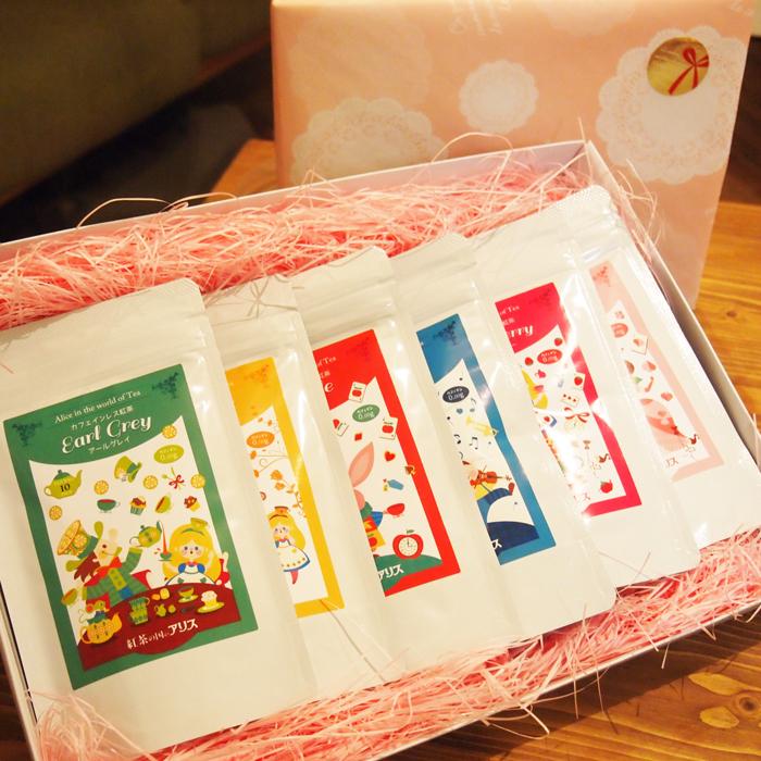【 出産祝い 内祝い 母の日 プレゼント】 カフェインレス 紅茶 ティーバッグ 6点 ギフトセット(ラッピング無料 送料無料 ノンカフェイン