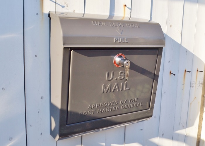 【ユーエスメールボックスDGY】U.S.MAILBOX ポスト メールボックス  かわいい おしゃれ 玄関 ナチュラル アメリカン フレンチ アイアン スチール アートワークスタジオ ポタフルール