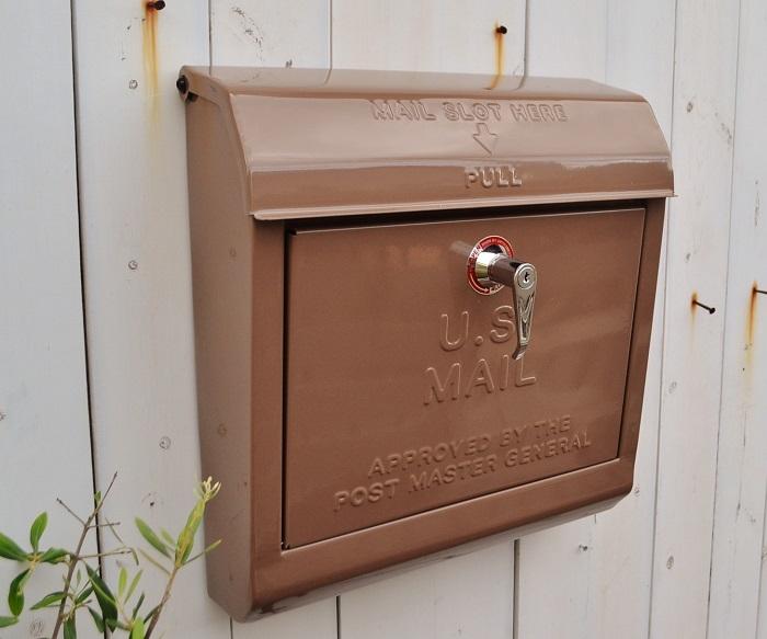 【ユーエスメールボックスBE】U.S.MAILBOX ポスト メールボックス  かわいい おしゃれ 玄関 ナチュラル アメリカン フレンチ アイアン スチール アートワークスタジオ ポタフルール