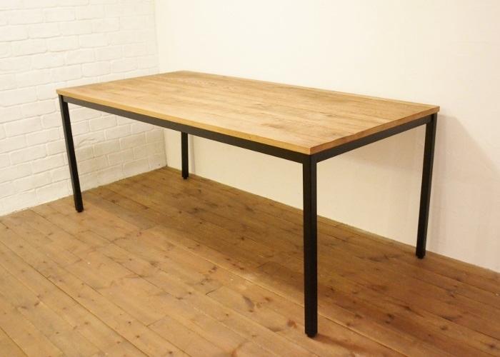 【SALE】P10倍! ダイニングテーブルTK180 送料無料 ダイニングテーブル テーブル ダイニングセット オーク オーク材 ナラ材 無垢材 アイアン 家具 イージーライフ ナチュラルインテリア ナチュラル かわいい おしゃれ ポタフルール