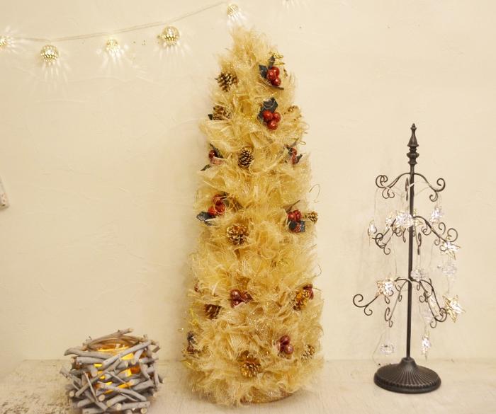 【クリスマスツリー|ラグジュアリーゴールドツリー】クリスマス飾り 雑貨 ツリー グッズ クリスマス インテリア 飾り付け アイアン シンプル 大きめ ゴージャス 豪華 ゴールド かわいい ディスプレイ おしゃれ SPICE ポタフルール