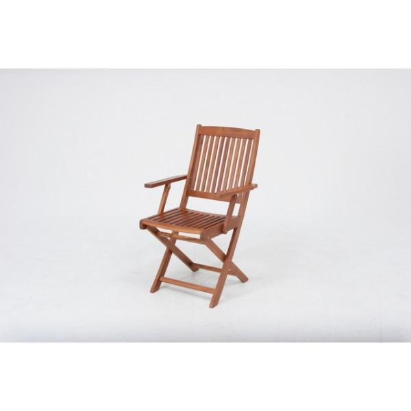肘付き木製ガーデン チェア お庭でも、アウトドアーでもご利用できる、持ち運び便利な折畳みチェアー 椅子 フォールディングチェア (肘付) ガーデンファニチャー DIY