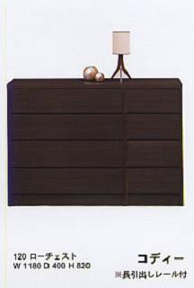 【厳選&お手頃プライス!!】【シックなカラーが大人の空間を演出♪】寝室 子供部屋 クローゼット 収納 たんす 木製 シンプル デザインコディー120ローチェスト